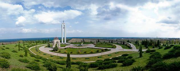 Зажжение вечного огня на мемориале «Шерпенский плацдарм»
